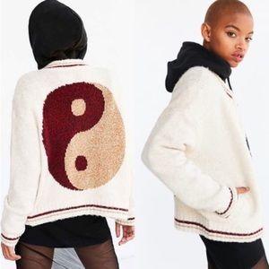 NWT Ecote yin yang bomber sweater